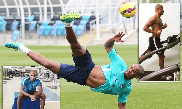 Vincent Kompany begins training THREE WEEKS before Manchester City team return for