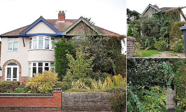 Warwickshire home engulfed by foliage after owner lets bushes grow to its roof