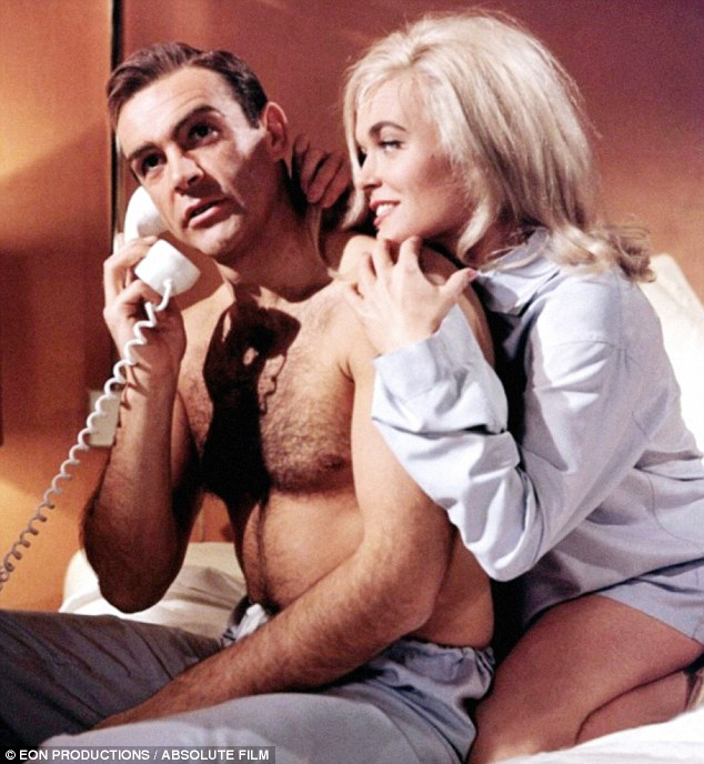 Pillow talk: Sean Connery and a voiced-over Shirley Eaton in Goldfinger from 1964