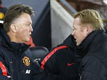 "Manchester United manager Louis van Gaal (L) shakes hands with Southampton manager Ronald Koeman before their English Premier League soccer match at St Mary's Stadium in Southampton, southern England December 8, 2014. REUTERS/Andrew Winning (BRITAIN - Tags: SPORT SOCCER) NO USE WITH UNAUTHORIZED AUDIO, VIDEO, DATA, FIXTURE LISTS, CLUB/LEAGUE LOGOS OR ""LIVE"" SERVICES. ONLINE IN-MATCH USE LIMITED TO 45 IMAGES, NO VIDEO EMULATION. NO USE IN BETTING, GAMES OR SINGLE CLUB/LEAGUE/PLAYER PUBLICATIONS. FOR EDITORIAL USE ONLY. NOT FOR SALE FOR MARKETING OR ADVERTISING CAMPAIGNS"
