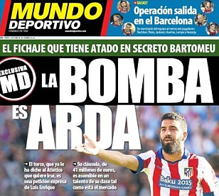 Barcelona join race for Chelsea target Arda Turan... and all the rest of transfer news