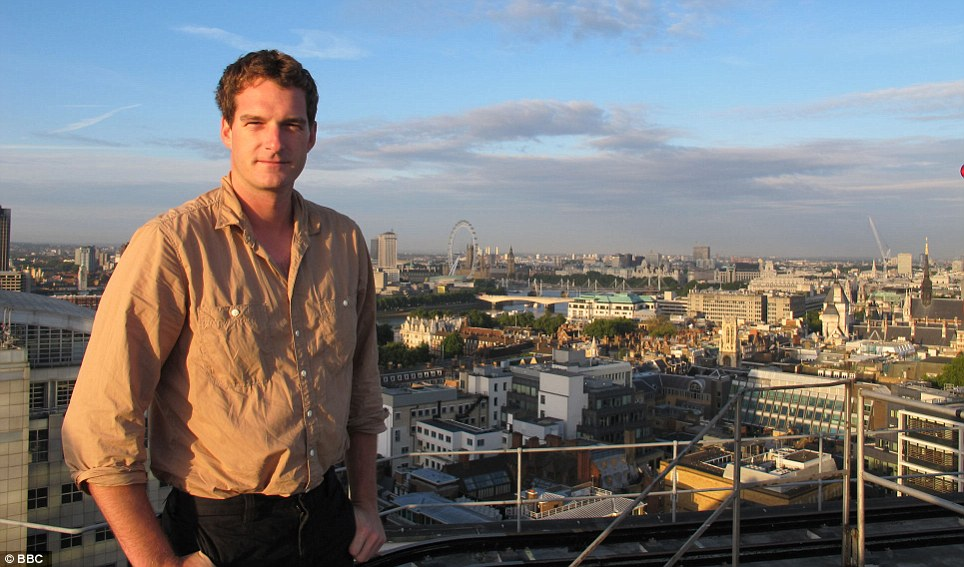 Taking a stand: Presenter Dan Snow leapt out to help an injured shopkeeper, and praises the police for trying to protect the innocent public