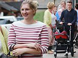 REBECCA ADLINGTON1071.jpgOLYMPIC GOLD MEDALIST SWIMMER REBECCA ADLINGTON TAKES NEW BORN DAUGHTER SUMMER FOR A SPOT OF LUNCH WITH HUSBAND HARRY AND MOTHER KAY\n