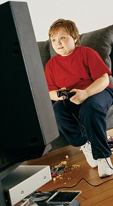 Larger children are more likely to be rooted to the couch than encouraged to exercise
