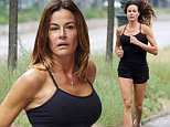 Kelly Bensimon spotted doing a leg stretch after enjoying a run with her daughter Thadeus in the SoHo neighborhood of NYC.\n\nPictured: Kelly Bensimon\nRef: SPL1064530  260615  \nPicture by: J. Webber / Splash News\n\nSplash News and Pictures\nLos Angeles: 310-821-2666\nNew York: 212-619-2666\nLondon: 870-934-2666\nphotodesk@splashnews.com\n