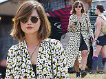 Picture Shows: Jenna Coleman  June 27, 2015    Jenna-Louise Coleman spotted at Glastonbury Festival 2015. Jenna was feeling the festival vibes, wearing a flowing floral duster coat and black ankle boots.    Non Exclusive  WORLDWIDE RIGHTS  Pictures by : FameFlynet UK © 2015  Tel : +44 (0)20 3551 5049  Email : info@fameflynet.uk.com