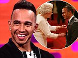 Lewis Hamilton during filming of the Graham Norton Show at the London Studios, south London, to be aired on Friday. PRESS ASSOCIATION Photo. Picture date: Thursday June 25, 2015. Photo credit should read: Ian West/PA Wire