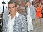Celebrities at Chiltern Firehouse Featuring: Antonio Banderas, Nicole Kimpel Where: London, United Kingdom When: 26 Jun 2015 Credit: DGA/WENN.COM