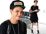 EXCLUSIVE TO INF.\nJune 26, 2015: Ruby Rose spotted using her phone before catching a flight out of LAX Airport in Los Angeles, CA.\nMandatory Credit: Mariotto/Chiva/INFphoto.com Ref: infusla-244/276