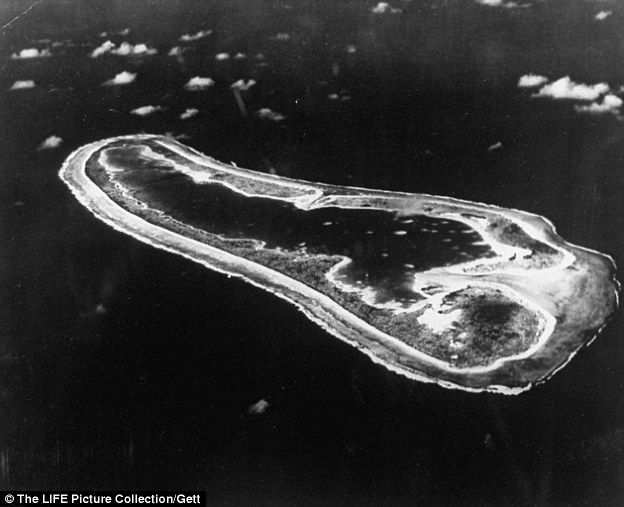 Search parties: Gardner Island, now known as Nikumaroro, was flown over in the initial searches, but now pilot Ric Gillespie says that his team found part of Earhart's plane on the small uninhabited patch of land