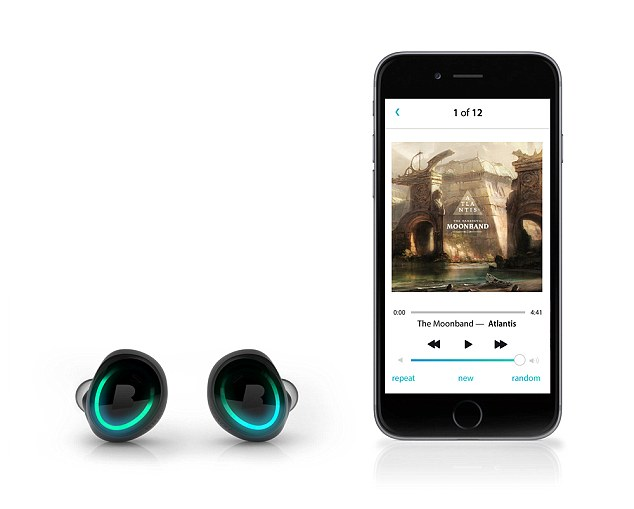 The headphones can also be linked to an app for playback of music on an iPhopne