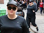 June 27, 2015: Rebel Wilson is seen wearing black Nike as she run errands in New York City.\nMandatory Credit: INFphoto.com Ref.: infusny-284
