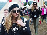 June 28, 2015: June 28, 2015  Cara Delevingne spotted at Glastonbury 2015  Non Exclusive Worldwide Rights Pictures by : FameFlynet UK © 2015 Tel : +44 (0)20 3551 5049 Email : info@fameflynet.uk.com