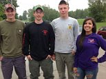 These four Franklin County young people may have seen escaped killer David Sweat less than 5 miles from the Canadian border at 2:30 a.m. Sunday on Callahan Road in the Town of Burke, about 12 hours before he was shot and wounded by a State Police officer at 517 Coveytown Road. From left are: Patrick Gordon, Conor Gordon, Evan King and Alicia Howard.