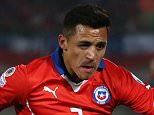 SANTIAGO, CHILE - JUNE 24: Alexis Sanchez of Chile in full flow during the 2015 Copa America Chile quarter final match between Chile and Uruguay at Nacional Stadium on June 24, 2015 in Santiago, Chile. (Photo by Daniel Jayo/LatinContent/Getty Images)