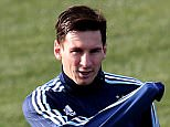 Image:  37893880    (150628) -- VINA DEL MAR, June 28, 2015 (Xinhua) -- Argentina's National Team player Lionel Messi attends a training session in Vina del Mar, Chile, on June 27, 2015. Argentina will be play the 2015 Chile America Cup semifinal match against Paraguay on June 30. PHOTOGRAPH BY Xinhua /Landov / Barcroft Media UK Office, London. T +44 845 370 2233 W www.barcroftmedia.com USA Office, New York City. T +1 212 796 2458 W www.barcroftusa.com Indian Office, Delhi. T +91 11 4053 2429 W www.barcroftindia.com
