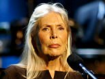 Musician Joni Mitchell performs at the Thelonious Monk Institute of Jazz International Trumpet Competition and Herbie Hancock Tribute in Hollywood, in this file photo taken October 28, 2007. Groundbreaking singer/songwriter Joni Mitchell, one of the stars of the Woodstock era, has been hospitalized, her official website said on March 31, 2015. REUTERS/Max Morse/Files