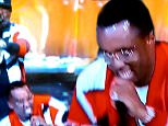 P Diddy Falls Through Stage