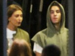 June 29th 2015 First photos of Justin Bieber and Hailey Baldwin together in Sydney. They were spotted leaving All Phones area together after attending the HillSong conference  EXCLUSIVE Mandatory Credit: INFphoto.com Ref: infausy-45