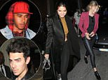 28.JUNE.2015 - LONDON - UK\nGIGI HADID AND JOE JONAS GO CLUBBING IN LONDON AT LIBERTINE NIGHTCLUB. SPOTTED LEAVING THEIR HOTEL WITH LEWIS HAMILTON. ALSO SPOTTED WAS CANADIAN RAPPER DRAKE. PICTURED SUNDAY 28TH JUNE 2015\nBYLINE MUST READ : XPOSUREPHOTOS.COM\n***UK CLIENTS - PICTURES CONTAINING CHILDREN PLEASE PIXELATE FACE PRIOR TO PUBLICATION ***\n**UK CLIENTS MUST CALL PRIOR TO TV OR ONLINE USAGE PLEASE TELEPHONE   44 208 344 2007 **