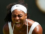 Serena Williams of USA celebrates while in action against Margarita Gasparyan of Russia