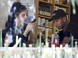 Picture Shows: Kylie Jenner, Tyga  June 29, 2015    Reality star Kylie Jenner and her rapper boyfriend Tyga enjoy lunch together in Calabasas, California. The happy couple recently returned from France.    Non-Exclusive  UK RIGHTS ONLY    Pictures by : FameFlynet UK © 2015  Tel : +44 (0)20 3551 5049  Email : info@fameflynet.uk.com