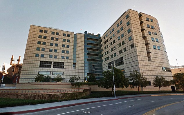 Hospital: The star was said early Tuesday be unconscious at UCLA Medical Center (above) in Los Angeles, California. However, Mitchell's representatives firmly denied the severity of her condition on her website