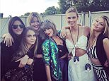 Shows: Kendall Jenner (fashion model), Cara Delevingne, Marhta Hunt (fashion model), Taylor Swift, Karlie Kloss (supermodel) and Gigi Hadid. Karlie Kloss Instagram