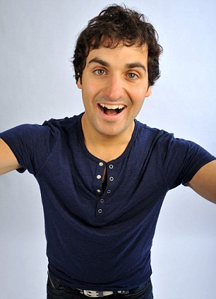 Having a laugh: Patrick Monahan is among the stars set to perform on the London to Glasgow train