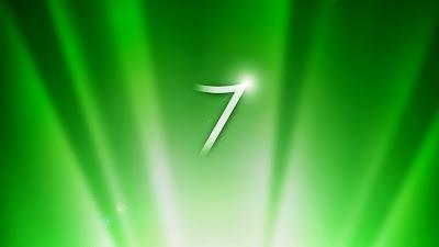 Green windows 7 wallpaper