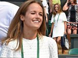 LONDON, ENGLAND - JUNE 30:  Kim Sears attends the Mikhail Kukushkin v Andy Murray match on day two of the Wimbledon Tennis Championships at Wimbledon on June 30, 2015 in London, England.  (Photo by Karwai Tang/WireImage)
