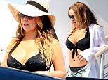 30.JUNE.2015 - IBIZA - SPAIN\nSUPERSTAR MARIAH CAREY LOOKS STUNNING IN A BLACK TWO-PIECE BIKINI WHILE ON A YACHT IN IBIZA!\nBYLINE MUST READ : XPOSUREPHOTOS.COM\n*AVAILABLE FOR UK USE ONLY*\nBYLINE MUST READ : XPOSUREPHOTOS.COM\n***UK CLIENTS - PICTURES CONTAINING CHILDREN PLEASE PIXELATE FACE PRIOR TO PUBLICATION ***\n*UK CLIENTS MUST CALL PRIOR TO TV OR ONLINE USAGE PLEASE TELEPHONE 0208 344 2007**