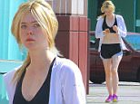 June 30, 2015: Elle Fanning is seen arriving at a fitness studio today in Los angeles, California.\nMandatory Credit: Lek/INFphoto.com Ref.: infusla-298