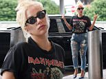 1 Jul 2015 - NEW YORK - USA  LADY GAGA WEARS RIPPED JEANS AND AN IRON MAIDEN SHIRT AS SHE LEAVES JFK AIRPORT IN NYC.   BYLINE MUST READ : XPOSUREPHOTOS.COM  ***UK CLIENTS - PICTURES CONTAINING CHILDREN PLEASE PIXELATE FACE PRIOR TO PUBLICATION ***  **UK CLIENTS MUST CALL PRIOR TO TV OR ONLINE USAGE PLEASE TELEPHONE  44 208 344 2007 ***