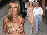 Rod Stewart and Penny Lancaster arriving at C Restaurant in mayfair London - Wednesday 1st July 2015 - Magicmomentsuk - 07753 303077