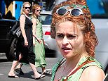 July 1st 2015 - London\n** EXCLUSIVE ALL AROUND PICTURES **\nActress Helena Bonham Carter looking relax and summury as she enjoys some retail therapy with a friend in West London. \nHelena was sporting two pairs of glasses and  green polka dote ensemble.\n****** BYLINE MUST READ : © Spread Pictures ******\n****** No Web Usage before agreement ******\n****** Strictly No Mobile Phone Application or Apps use without our Prior Agreement ******\nEnquiries at photo@spreadpictures.com