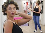 Picture Shows: Lauren Goodger  June 27, 2015    Former 'The Only Way Is Essex' star Lauren Goodger is spotted shopping in Loughton, Essex.    The reality star, who proudly displayed the tattoo she recently got of rekindled flame Jake McLean's name on her wrist, took the ultimate casual approach to her wardrobe with her hair still in curlers. Lauren also wore a casual black top with blue jeans and espadrille shoes.    Exclusive All Rounder  WORLDWIDE RIGHTS  FameFlynet UK © 2015  Tel : +44 (0)20 3551 5049  Email : info@fameflynet.uk.com