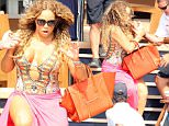 01.JULY.2015 - IBIZA - SPAIN\n*AVAILABLE FOR UK SALE ONLY*\nAMERICAN SINGER MARIAH CAREY IS SEEN LEAVING THE YACHT THAT BELONGS TO HER BILLIONAIRE BOYFRIEND JAMES PACKER. AS MARIAH MAKES HER WAY DOWN THE STAIRS IN HER VERY HIGH HEELS SHE ALMOST TAKES A TUMBLE.\nBYLINE MUST READ : XPOSUREPHOTOS.COM\n***UK CLIENTS - PICTURES CONTAINING CHILDREN PLEASE PIXELATE FACE PRIOR TO PUBLICATION ***\n*UK CLIENTS MUST CALL PRIOR TO TV OR ONLINE USAGE PLEASE TELEPHONE 0208 344 2007*