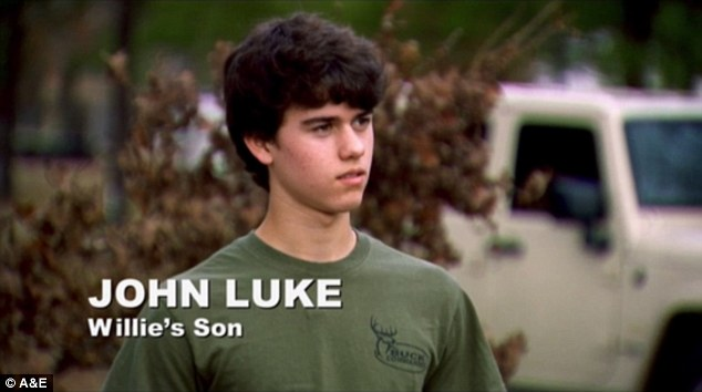 Humble beginnings: John Luke is one of the stars of the A&E hit reality show Duck Dynasty