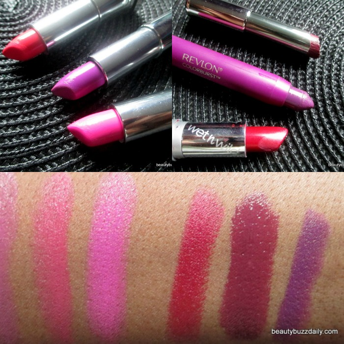 Transition from bright summer lip products to deep fall lip products