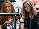 LONDON, ENGLAND - JULY 02:  Wife Kim Murray looks on ahead of Andy Murray of Great Britain's Gentlemen's Singles second round match against Robin Haase of Netherlands during day four of the Wimbledon Lawn Tennis Championships at the All England Lawn Tennis and Croquet Club on July 2, 2015 in London, England.  (Photo by Clive Brunskill/Getty Images)