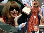 Anna Wintour, English editor-in-chief of American Vogue, during day Four of the Wimbledon Championships at the All England Lawn Tennis and Croquet Club, Wimbledon. PRESS ASSOCIATION Photo. Picture date: Thursday July 2, 2015.  See PA Story TENNIS Wimbledon. Photo credit should read Adam Davy/PA Wire. RESTRICTIONS: Editorial use only. No commercial use without prior written consent of the AELTC. Still image use only - no moving images to emulate broadcast. No superimposing or removal of sponsor/ad logos. Call +44 (0)1158 447447 for further information.