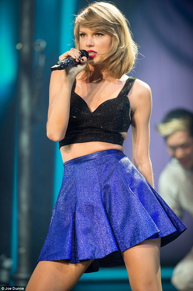 Romantic: And the romance hasn't stopped there for new lovebirds as Taylor proved in Dublin on Monday night