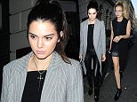 2 Jul 2015 - LONDON - UK  AMERICAN MODELS KENDALL JENNER , GIGI HADID AND JOE JONAS ARE SPOTTED LEAVING SKETCH RESTAURANT IN LONDON TONIGHT .  BYLINE MUST READ : XPOSUREPHOTOS.COM  ***UK CLIENTS - PICTURES CONTAINING CHILDREN PLEASE PIXELATE FACE PRIOR TO PUBLICATION ***  **UK CLIENTS MUST CALL PRIOR TO TV OR ONLINE USAGE PLEASE TELEPHONE   44 208 344 2007 **