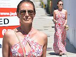 Cat Deeley Shops on Melrose in a Red Dress  Pictured: Cat Deeley Ref: SPL1069997  020715   Picture by: Photographer Group  Splash News and Pictures Los Angeles: 310-821-2666 New York: 212-619-2666 London: 870-934-2666 photodesk@splashnews.com