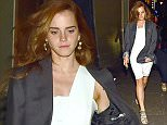 EXCLUSIVE TO INF. July 2, 2015: Emma Watson looking stylish while out for a party in London, UK. Mandatory Credit: INFphoto.com Ref.: infuklo-168/188/194