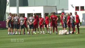 Der Trainingsauftakt des FC Bayern. (Screenshot: t-online.de)