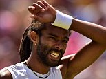 Germany's Dustin Brown reacts against Serbia's Viktor Troicki during their men's singles third round match on day six of the 2015 Wimbledon Championships at The All England Tennis Club in Wimbledon, southwest London, on July 4, 2015.   RESTRICTED TO EDITORIAL USE  -- AFP PHOTO / LEON NEALLEON NEAL/AFP/Getty Images