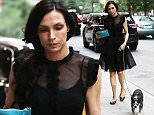 """Picture Shows: Famke Janssen  July 02, 2015    'Hemlock Grove' actress Famke Janssen is spotted walking her dog in New York City. During a recent interview Janssen said she stays away from social media and doesn't like to announce her updates in her personal life saying, """"It's not just old school, but I really like my privacy very much. I find that all these social-media outlets are about self promotion. That's not what I'm looking for.""""    Non-Exclusive  UK RIGHTS ONLY     Pictures by : FameFlynet UK © 2015  Tel : +44 (0)20 3551 5049  Email : info@fameflynet.uk.com"""