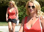 Pictured: Britney Spears\nMandatory Credit © Milton Ventura/Broadimage\n***EXCLUSIVE***\nBritney Spears  displays her dancer's physique in a black shorts and some cleavage in pink low cut v neck tank top while out for breakfast in Calabasas\n\n7/3/15, Calabasas, California, United States of America\n\nBroadimage Newswire\nLos Angeles 1+  (310) 301-1027\nNew York      1+  (646) 827-9134\nsales@broadimage.com\nhttp://www.broadimage.com\n